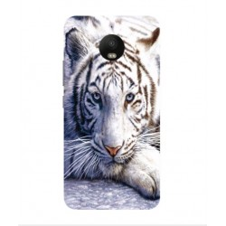 Motorola Moto E4 White Tiger Cover
