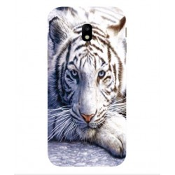 Coque Protection Tigre Blanc Pour Samsung Galaxy J7 Max