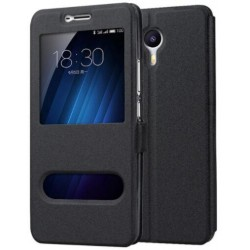 Etui Protection S-View Cover Noir Pour Meizu M3 Max