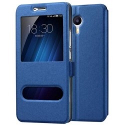 Etui Protection S-View Cover Bleu Pour Meizu M3 Max