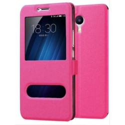 Pink S-view Flip Case For Meizu M3 Max