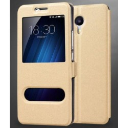 Gold S-view Flip Case For Meizu M3 Max
