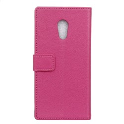 Protection Etui Portefeuille Cuir Rose Meizu M3 Max
