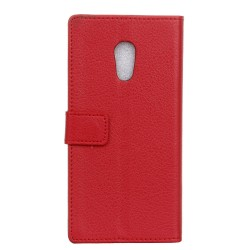 Protection Etui Portefeuille Cuir Rouge Meizu M3 Max