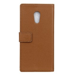 Protection Etui Portefeuille Cuir Marron Meizu M3 Max