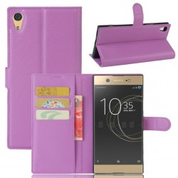 Protection Etui Portefeuille Cuir Violet Sony Xperia XA1 Ultra