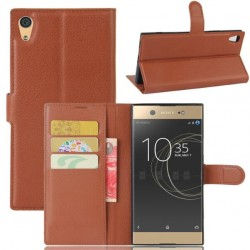 Sony Xperia XA1 Ultra Brown Wallet Case