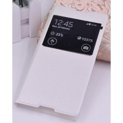White S-view Flip Case For Sony Xperia XA1 Ultra