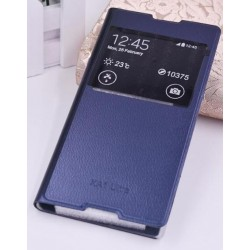 Blue S-view Flip Case For Sony Xperia XA1 Ultra