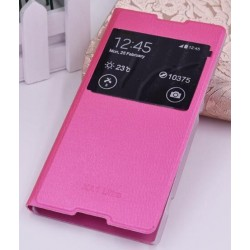 Pink S-view Flip Case For Sony Xperia XA1 Ultra