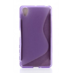 Purple Silicone Protective Case Sony Xperia XZ