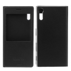 Etui Protection S-View Cover Noir Pour Sony Xperia XZ