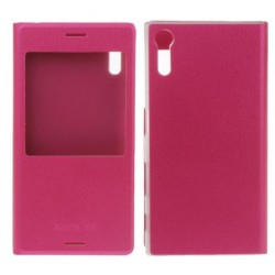 Etui Protection S-View Cover Rose Pour Sony Xperia XZ