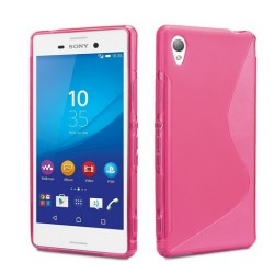 Pink Silicone Protective Case Sony Xperia Z5