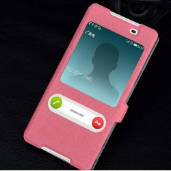 Pink S-view Flip Case For Sony Xperia Z5
