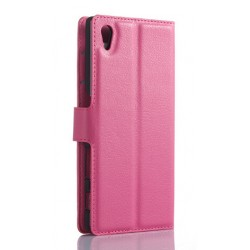 Sony Xperia Z5 Pink Wallet Case