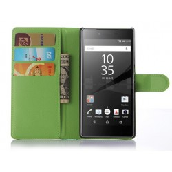 Sony Xperia Z5 Green Wallet Case