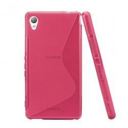 Pink Silicone Protective Case Sony Xperia Z5 Premium