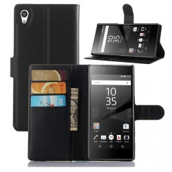 Sony Xperia Z5 Premium Black Wallet Case