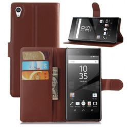 Sony Xperia Z5 Premium Brown Wallet Case