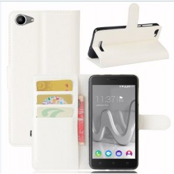 Protection Etui Portefeuille Cuir Blanc Wiko Lenny 3 Max (2017)