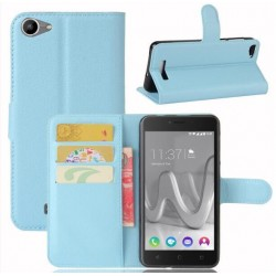 Protection Etui Portefeuille Cuir Bleu Wiko Lenny 3 Max (2017)