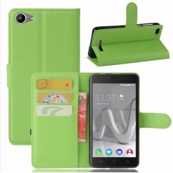 Protection Etui Portefeuille Cuir Vert Wiko Lenny 3 Max (2017)