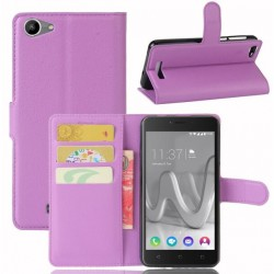 Protection Etui Portefeuille Cuir Violet Wiko Lenny 3 Max (2017)