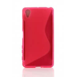 Pink Silicone Protective Case Sony Xperia X