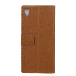 Sony Xperia X Brown Wallet Case