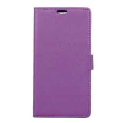 Protection Etui Portefeuille Cuir Violet Sony Xperia X