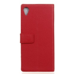 Protection Etui Portefeuille Cuir Rouge Sony Xperia X