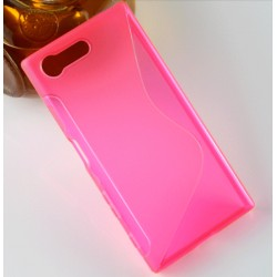Housse De Protection En Silicone Rose Pour Sony Xperia X Compact