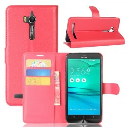 Asus Zenfone Go ZB552KL Red Wallet Case