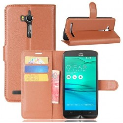 Asus Zenfone Go ZB552KL Brown Wallet Case