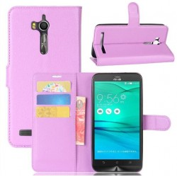Asus Zenfone Go ZB552KL Purple Wallet Case