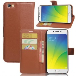 Oppo R9s Plus Brown Wallet Case