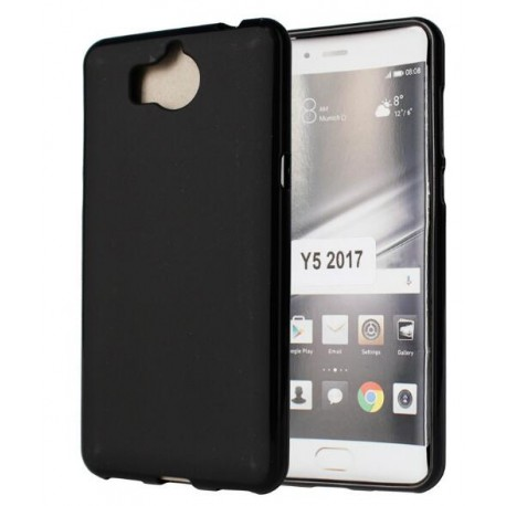 Housse de protection en silicone noir huawei y5 2017 for Housse huawei y5