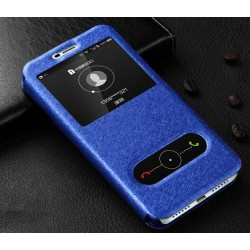 Blue S-view Flip Case For Huawei Y5 (2017)