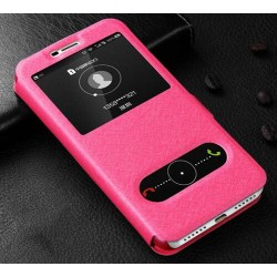 Pink S-view Flip Case For Huawei Y5 (2017)
