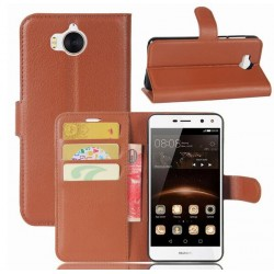 Huawei Y5 (2017) Brown Wallet Case