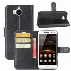 Huawei Y5 (2017) Black Wallet Case