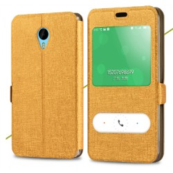 Gold S-view Flip Case For Meizu Pro 6 Plus