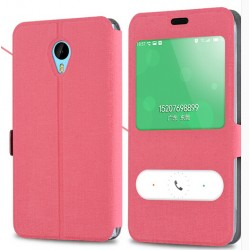 Pink S-view Flip Case For Meizu Pro 6 Plus