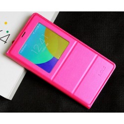Etui Protection S-View Cover Rose Pour Meizu MX4