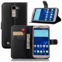 LG K10 Black Wallet Case