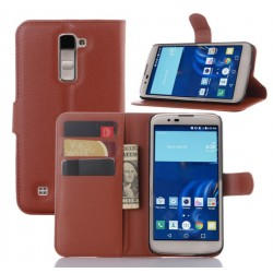 LG K10 Brown Wallet Case