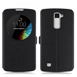 Etui Protection S-View Cover Noir Pour LG K10