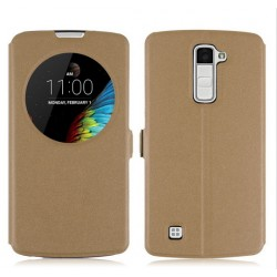 Brown S-view Flip Case For LG K10