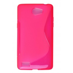 Pink Silicone Protective Case LG Bello II